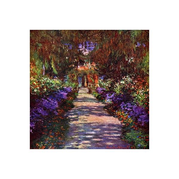 Obraz Claude Monet - Path in Monets Garden, 60x60 cm