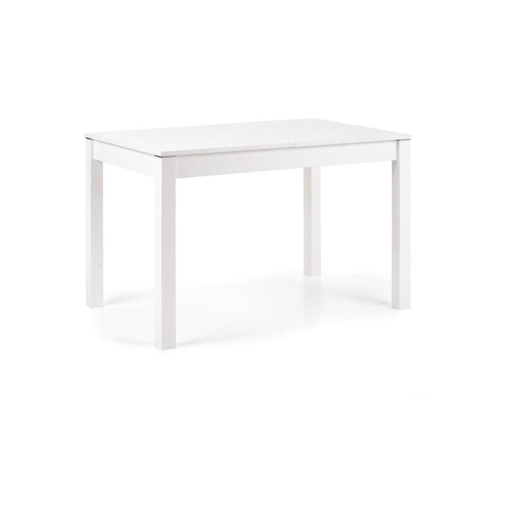 Biely rozkladací jedálenský stôl Halmar Maurycy, dĺžka 118 - 158 cm