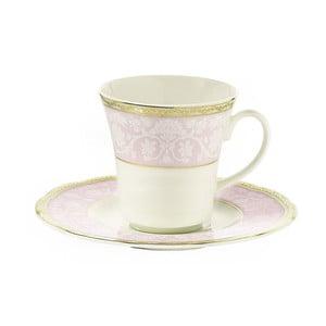 Sada 6 porcelánových šálok s tanierikom Kutahya Paper, 50 ml