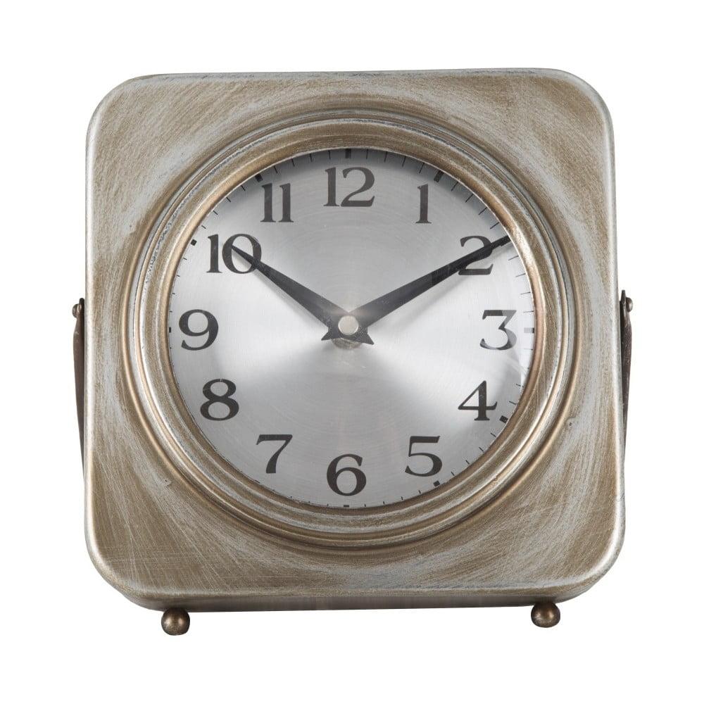 Stolové hodiny Mauro Ferretti Pull Gold, 20×20cm Do bytu v centre mesta i na chalupu v horách.