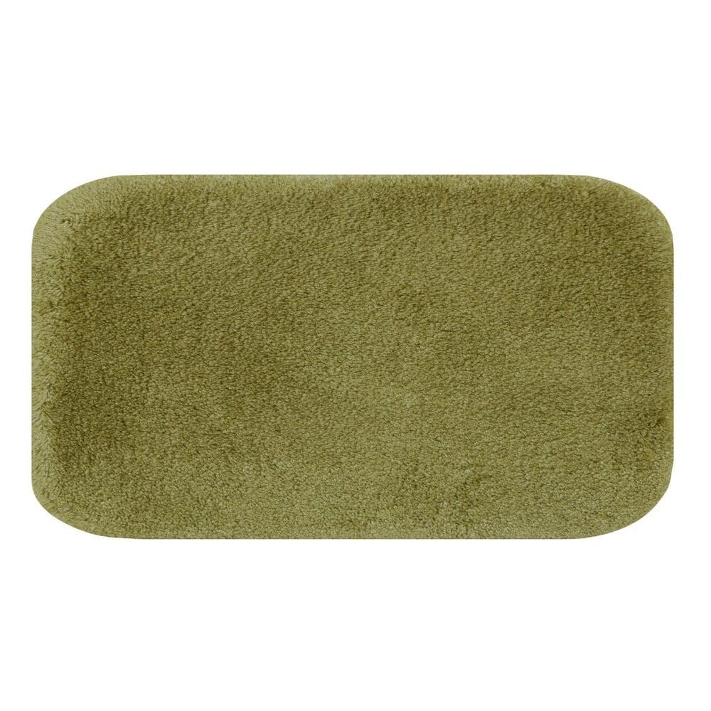 Zelená predložka do kúpeľne Confetti Miami, 80 × 140 cm