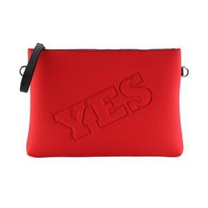 Neoprénová listová kabelka Yes/No, červené