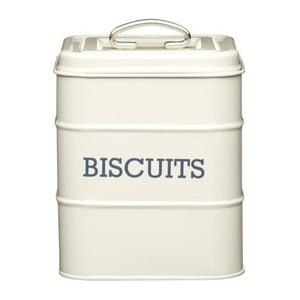 Krémová plechová dóza na sušienky Kitchen Craft Biscuits
