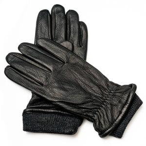 Pánske čierne kožené rukavice Pride & Dignity Soho, veľ. XL