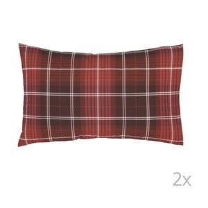 Sada 2 červených obliečok na vankúš Catherine Lansfield Tartan Check, 50 x 75 cm
