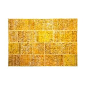 Vlnený koberec Allmode Yellow, 150x80 cm