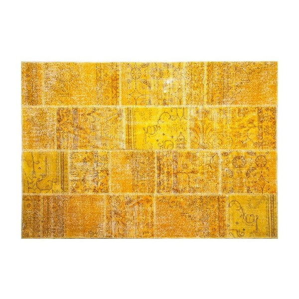 Vlnený koberec Allmode Yellow, 180x120 cm