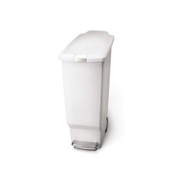 Pedálový kôš na odpadky Sisi 40 l, biely