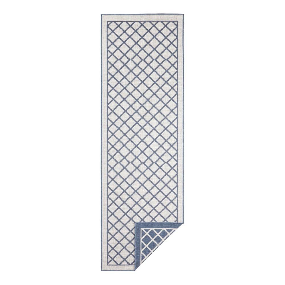 Modro-krémový vonkajší koberec Bougari Sydney, 250 x 80 cm