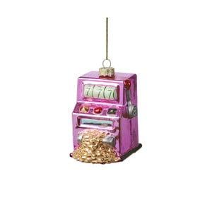 Vianočná závesná ozdoba zo skla Butlers Hrací automat
