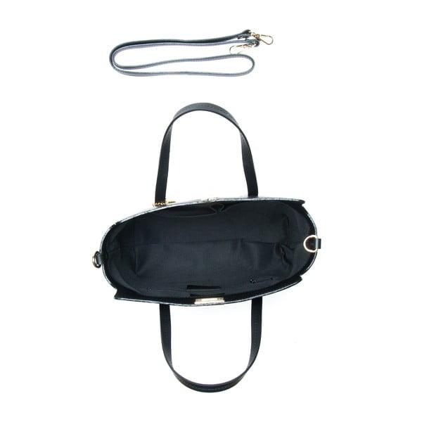 Kožená kabelka Constanza, čierna