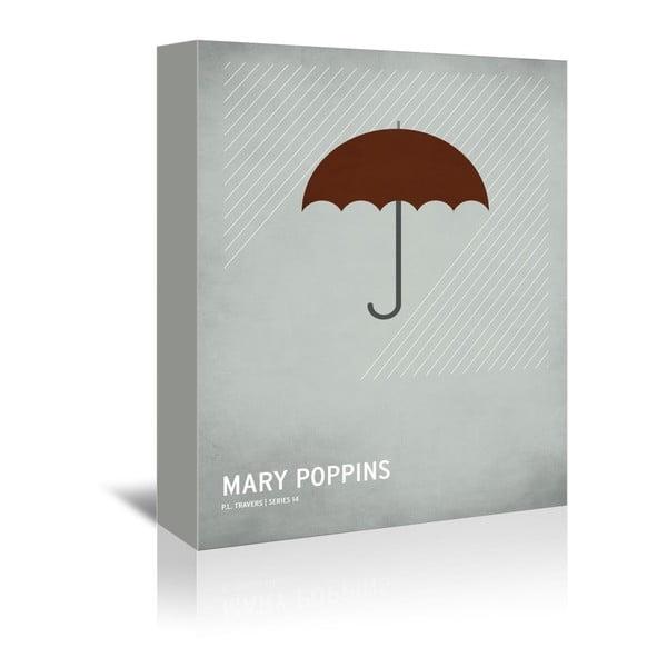 Obraz na plátne Mary Poppins With Text od Christiana Jacksona