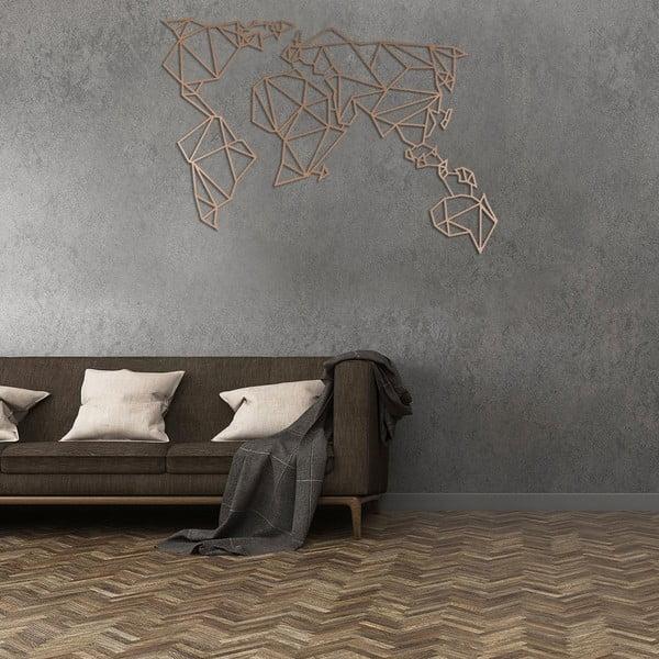 Kovová nástenná dekorácia v medenej farbe Homemania World