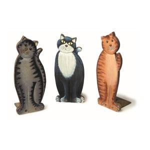 Sada 3 zarážok do dverí Legler Cats