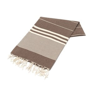Hammam osuška American Stripes Chocolate, 100 x 180 cm
