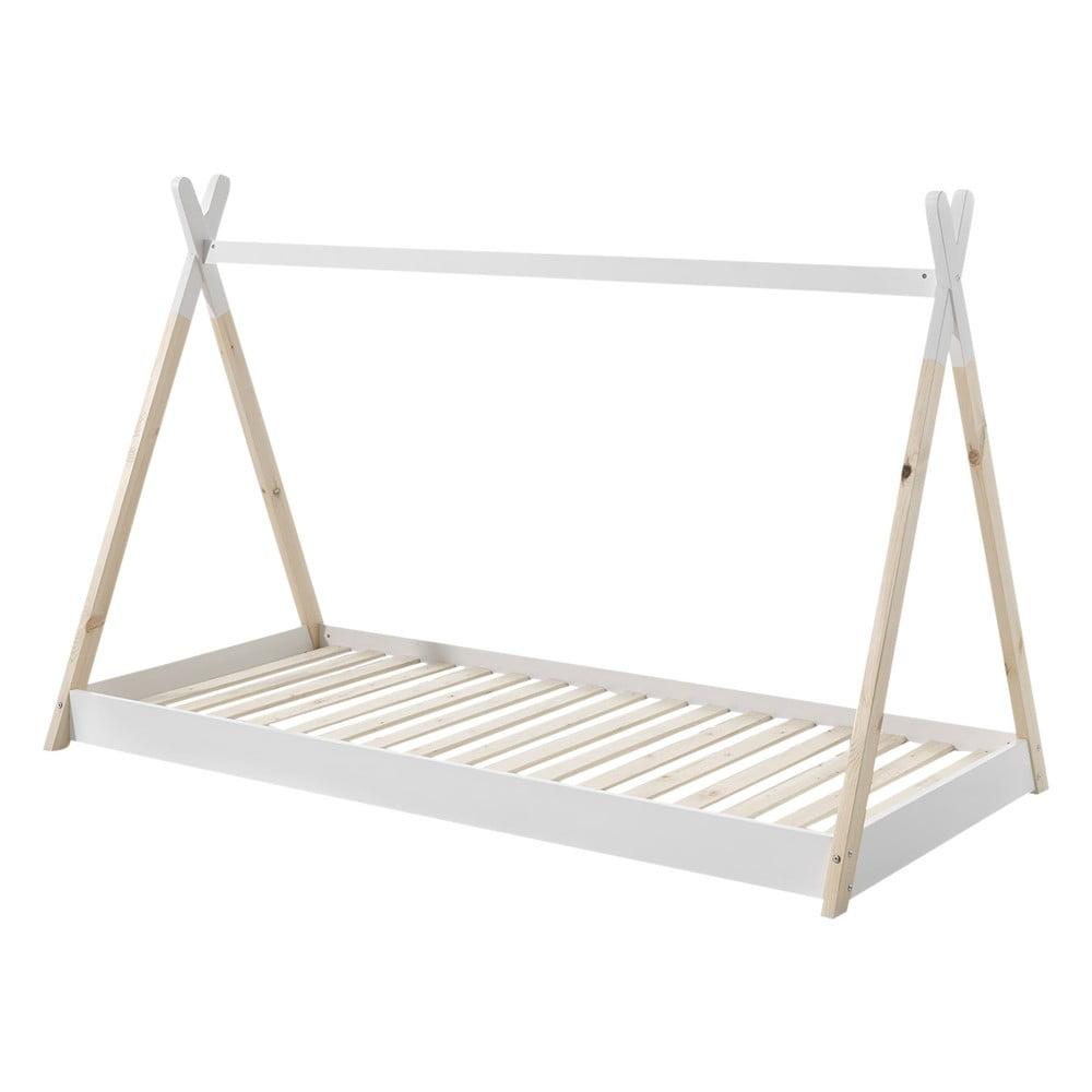 Biela detská posteľ Vipack Tipi, 90 × 200 cm