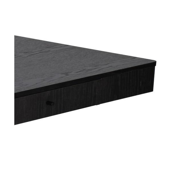 Konferenčný stolík Niles 85x85 cm, čierny