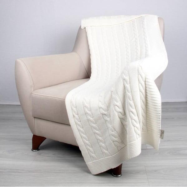 Svetlobéžová bavlnená deka Carla