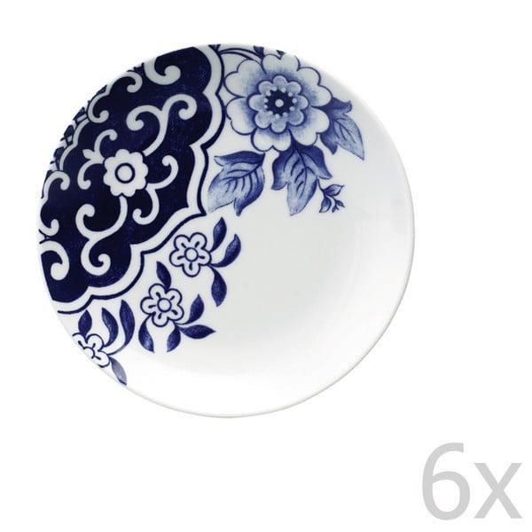 Sada 6 porcelánových dezertných tanierov Willow Love Story