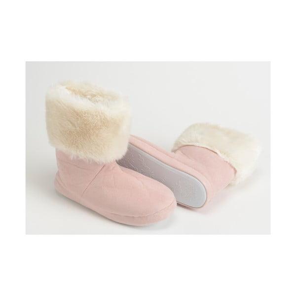 Papuče Fur Pink, veľ. 37/38