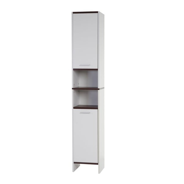 Kupeľňová skrinka Sonoma White/Brown, 31,5x179 cm