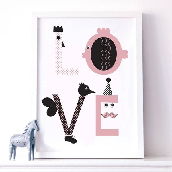Plagát Karin Åkesson Design Love Pink, 30x40cm