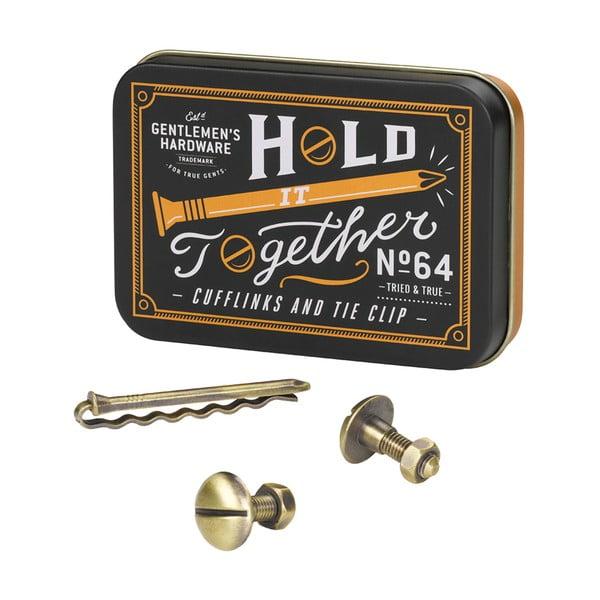 Sada manžetových gombíkov a spony na kravatu Gentlemen's Hardware Hold