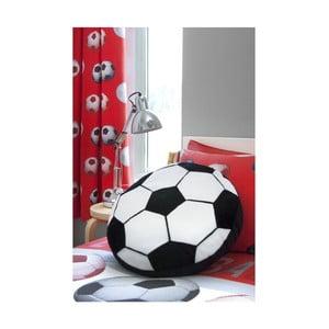 Sada 2 červených závesov Catherine Lansfield Football, 168 x 183 cm