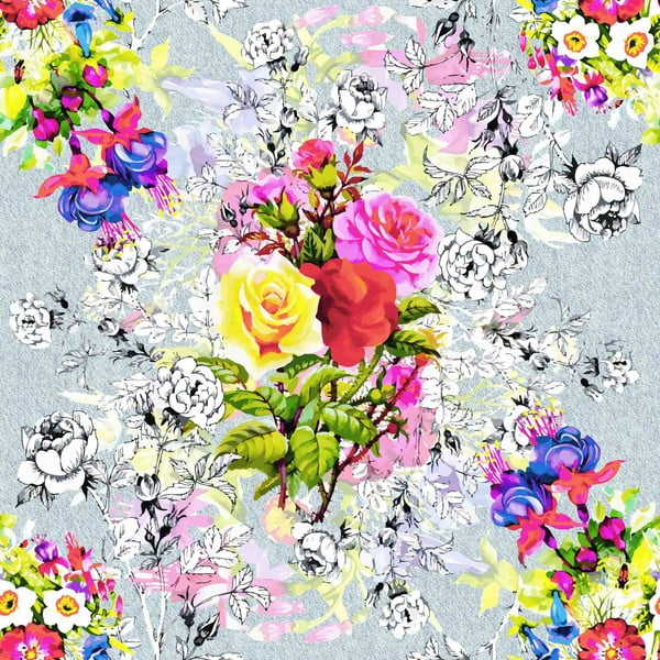 Obliečky Rose Garden Pink, 160x200 cm