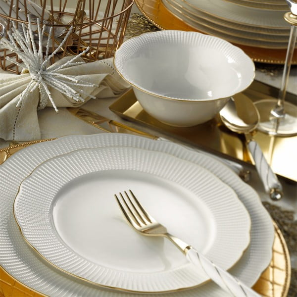 24-dielna sada tanierov z porcelánu Kutahya Francis