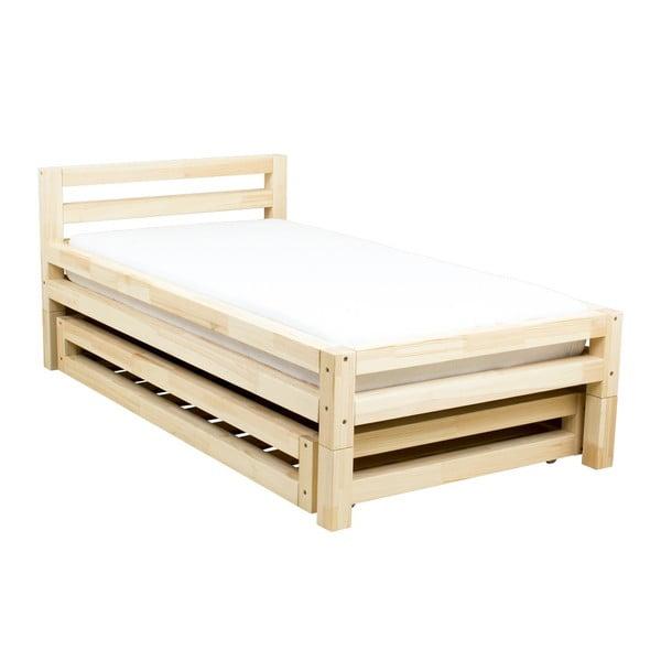 Jednolôžková lakovaná posteľ zo smrekového dreva Benlemi Single, 90 × 180 cm
