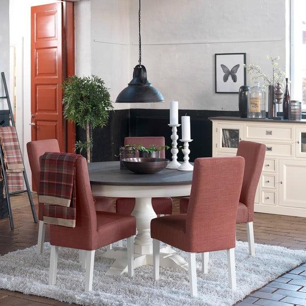 Biely jedálenský stôl Canett Skagen Dining, rozkladací