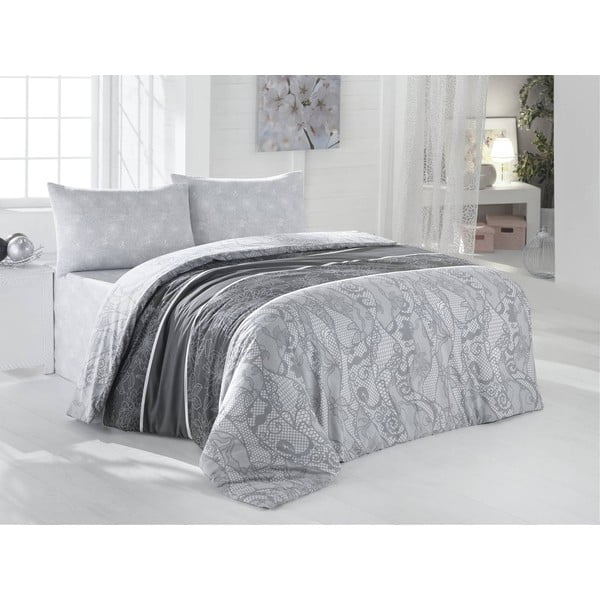 Obliečky s plachtou Derin Grey, 200x220 cm