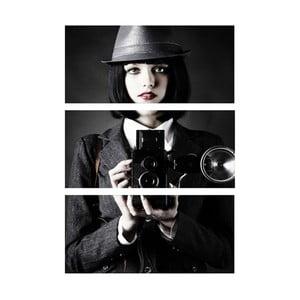 3-dielny obraz Fotografka