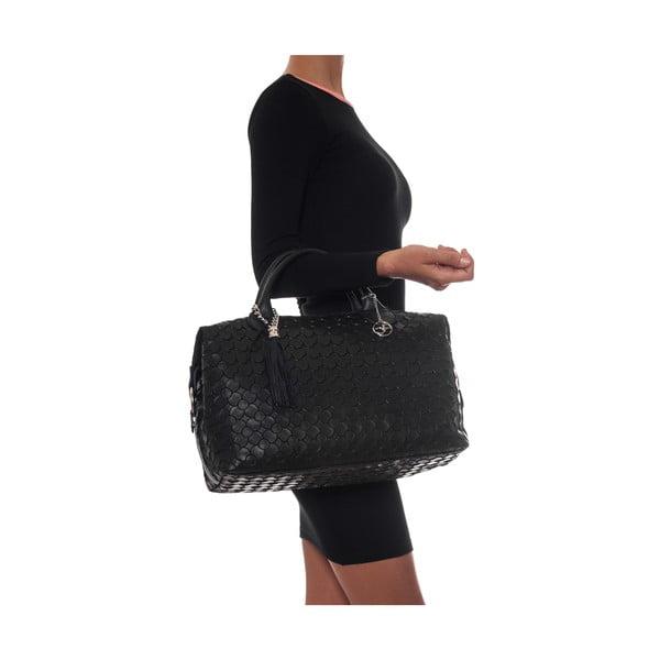 Kožená kabelka Carola, čierna
