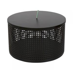 Čierny úložný box OK Design Boite, Ø25,5 cm