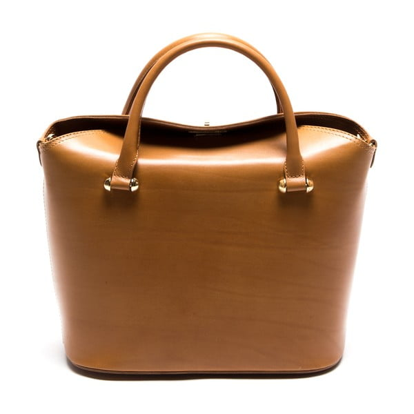 Koňakovo hnedá kožená kabelka  Isabella Rhea no. 396