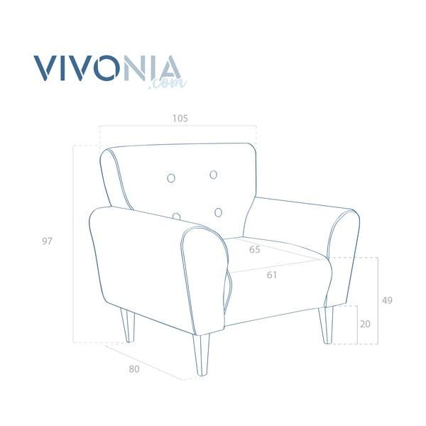 Olivovozelené kreslo Vivonita Klara