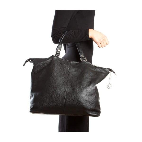 Kožená kabelka Fiora, čierna