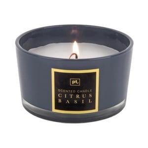 Sviečka s vôňou citrusu a bazalky PT LIVING Scented Candle, doba horenia 27 hodín