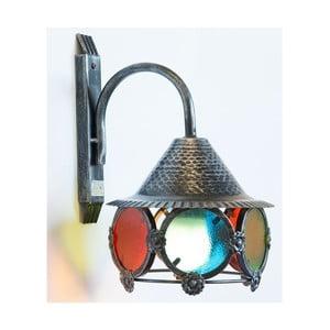 Čierne kovové nástenné svietidlo s farebnou mozaikou Cruccolini Nox