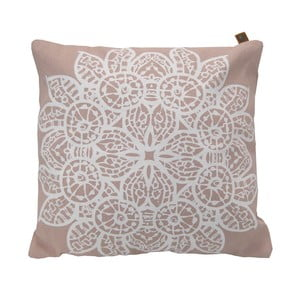 Vankúš Overseas Lace Blush/White, 45x45 cm
