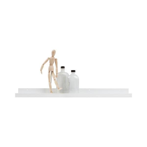 Biela nástenná polica na fotografie WOOOD Ravi, dĺžka 80cm
