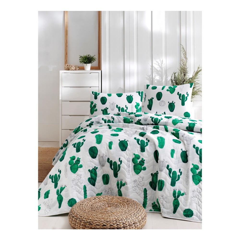 Set bavlnenej prikrývky cez posteľ a obliečky na vankúš Lura Parihno, 160 × 220 cm