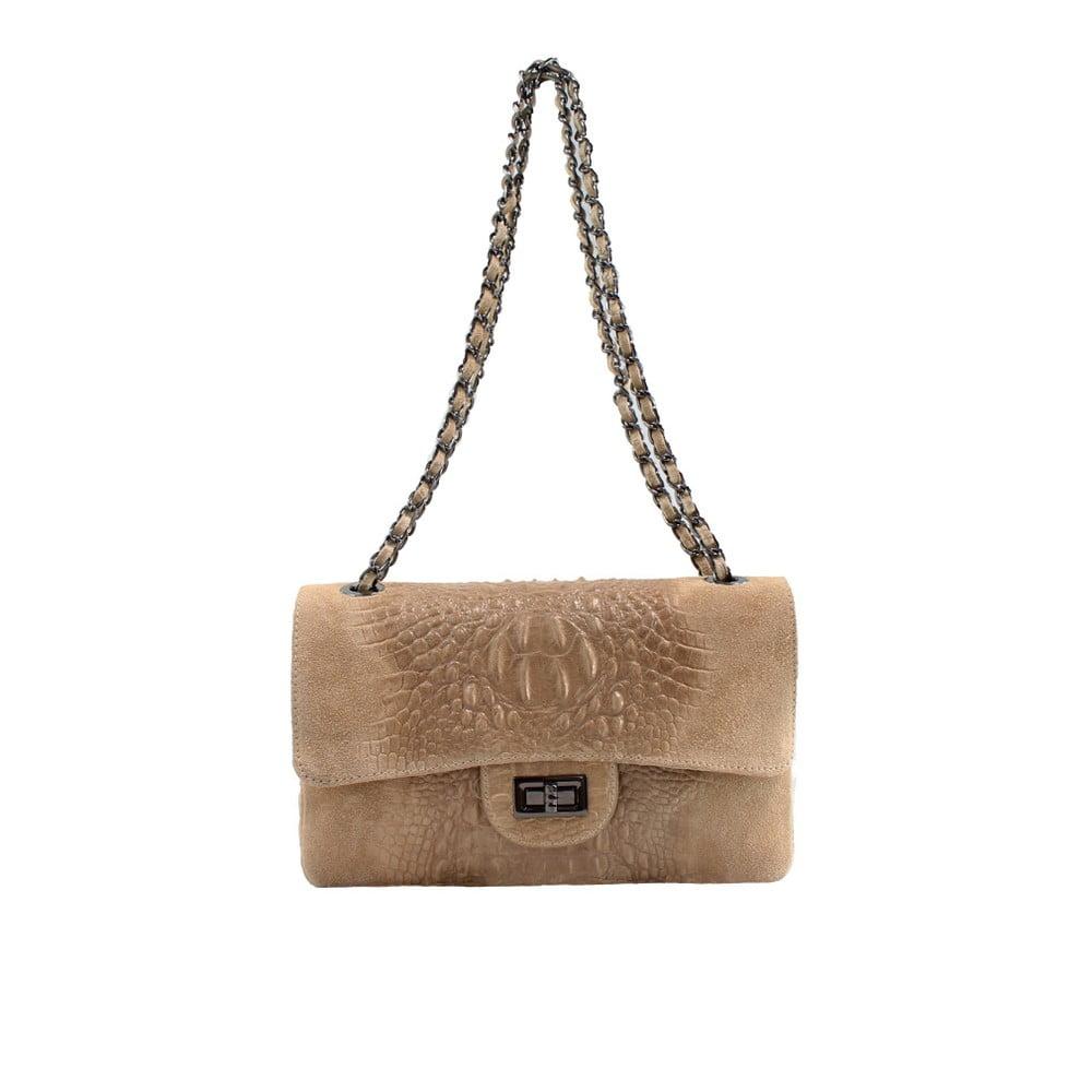 Taupe kožená kabelka Dorine