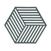 Sivozelená silikónová podložka pod horúce nádoby Zone Hexagon