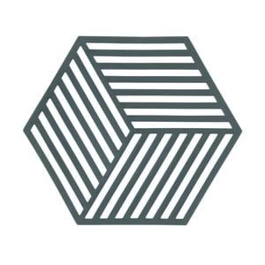 Sivozelená podložka pod horúce nádoby ZONE Hexagon