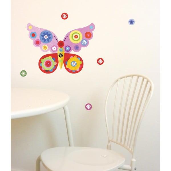 Samolepka na viac použití Butterfly Mini Pink, 30x21 cm