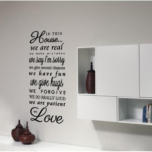Dekoratívna nástenná samolepka We Love