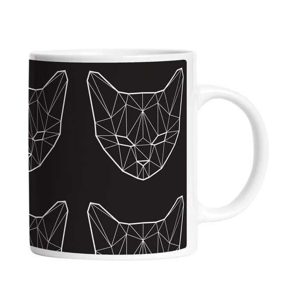 Hrnček Geometric Cat, 330 ml